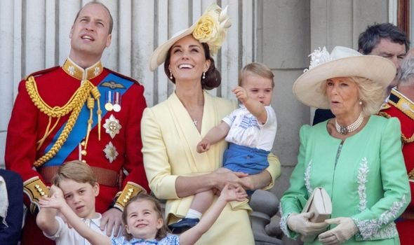 Picture of the young royals, Camilla and Kate and William