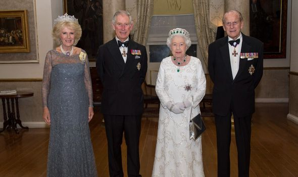 Camilla, Prince Charles, Queen and Prince Philip