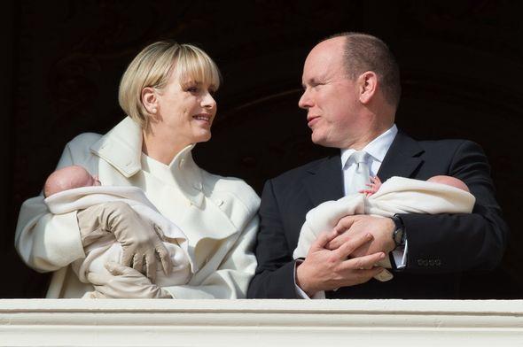 Princess Charlene and Albert with twins