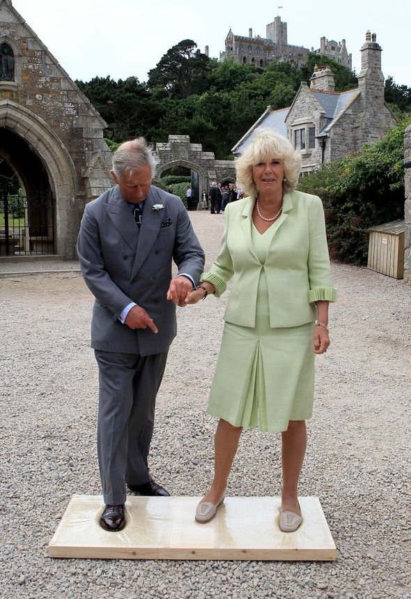 Charles and Camilla at St Michael's Mount.