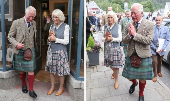 Charles and Camilla in Scotland
