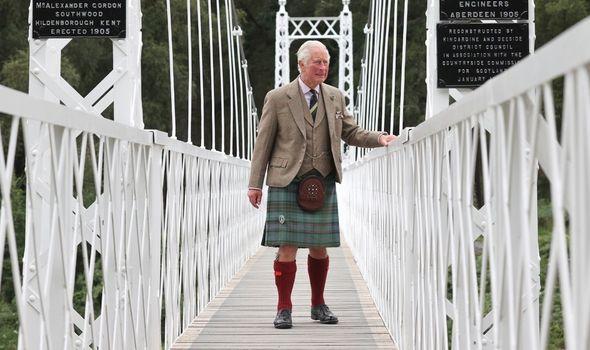 Charles on the Cambus O'May Suspension Bridge