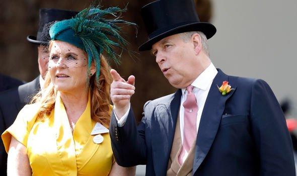 Duchess and Duke of York attending an event