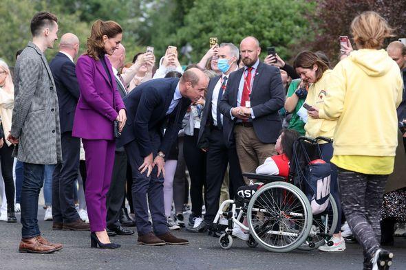 Duke and Duchess meet people