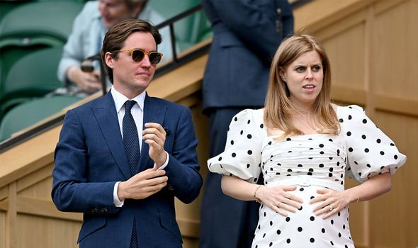 Edoardo Mapelli Mozzi: Beatrice and her husband pictured at Wimbledon this summer