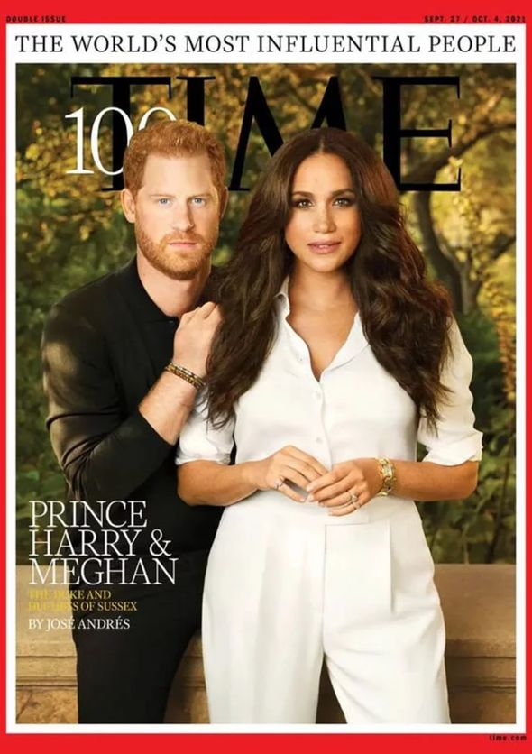 Harry and Meghan on cover of TIME magazine