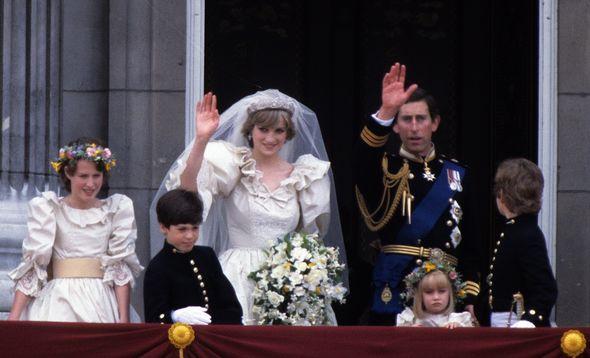 India Hicks (L) at Princess Diana's wedding