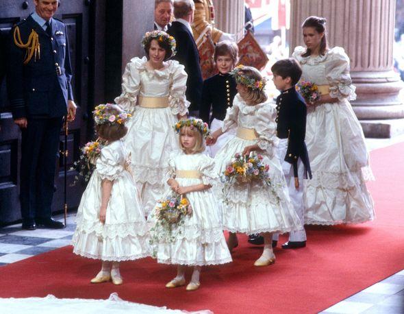 India Hicks was a bridesmaid at Diana's wedding