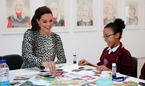 Kate: Does art project with children