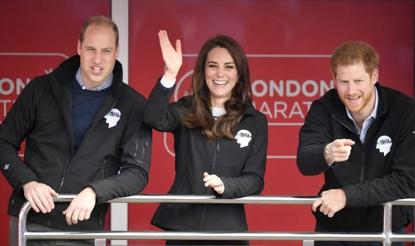 Kate Middleton and Princes William and Harry