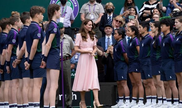 Kate Middleton on centre court at Wimbledon