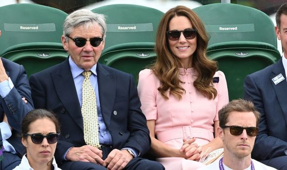 Kate Middleton pictured with her father Michael