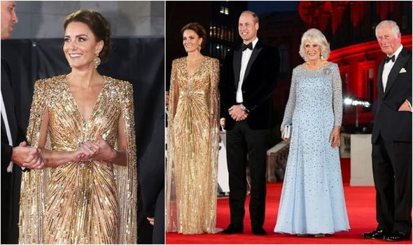 Kate Middleton wowed at tonight's premiere on date night with Prince William