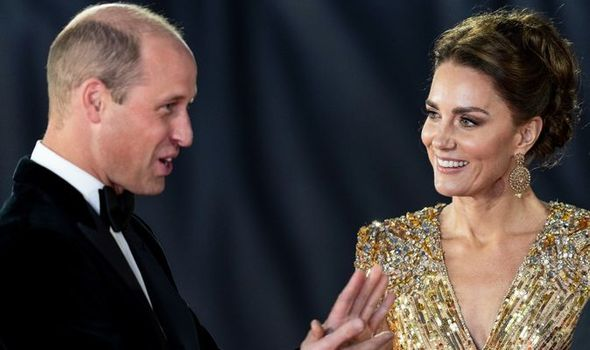Kate and Prince William at James Bond premiere