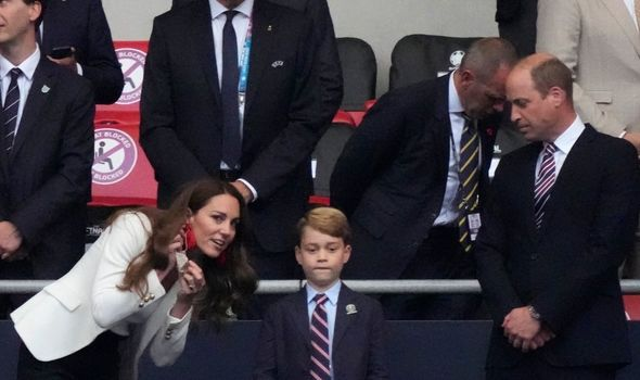 Kate and William at Wembley with Prince George