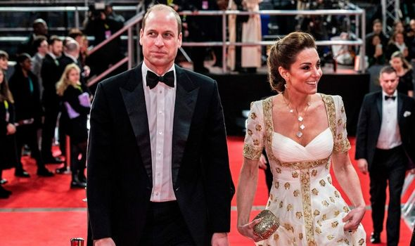 Kate and William at the Baftas.