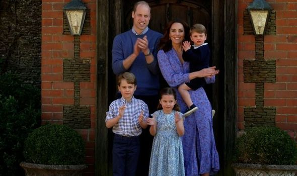 Kate and William with their children