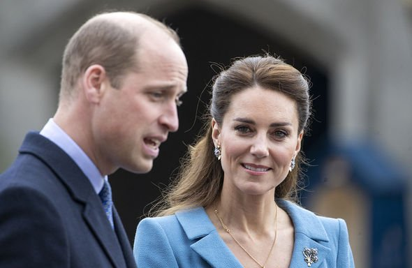 Prince William, Duke of Cambridge and Catherine, Duchess of Cambridge attend a Beating of the Retreat at the Palace of Holyroodhouse on May 27, 2021 i