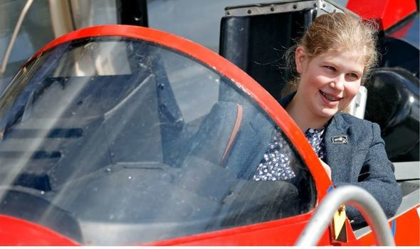 Picture of Lady Louise Windsor in a car at burghley horse trials