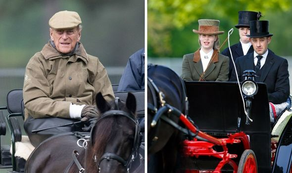 Lady Louise Windsor and Prince Philip