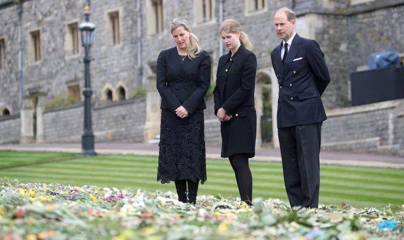 Lady Louise Windsor with her parents
