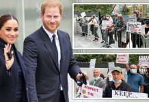 Meghan Markle and Prince Harry New York taxi protest