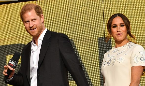 Meghan Markle and Prince Harry at Global Citizen Live