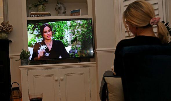 People watching Meghan and Harry on Oprah