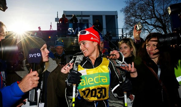 Pippa Middleton doing a marathon in Sweden