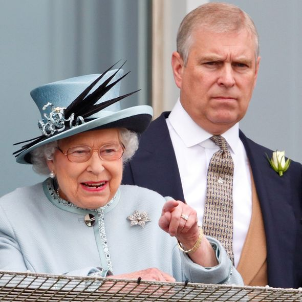 Prince Andrew and Queen