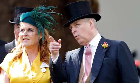 Prince Andrew pictured with ex-wife Sarah Ferguson
