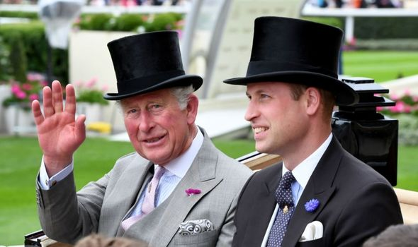 Prince Charles and Prince William at Ascot.