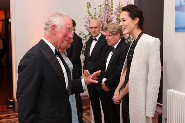 Prince Charles meets those behind the new film