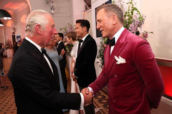 Prince Charles met with James Bond star Daniel Craig