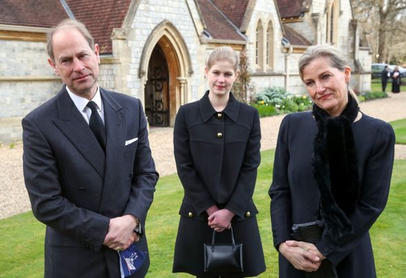 Prince Edward, Lady Louise and Sophie Wessex