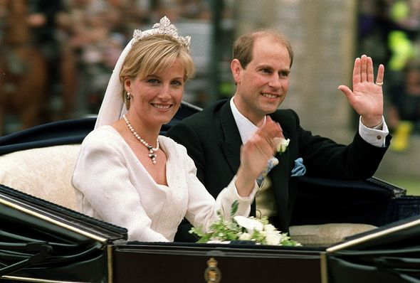 Prince Edward and Sophie Wessex's wedding in 1999
