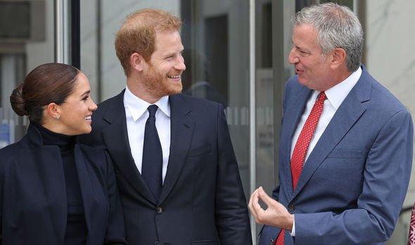 Prince Harry Meghan Markle Bill de Blasio