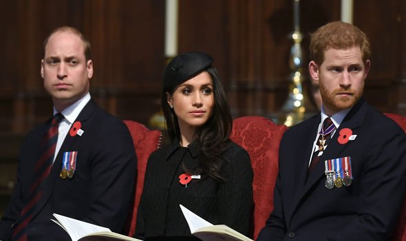 Prince Harry, Prince William and Meghan Markle