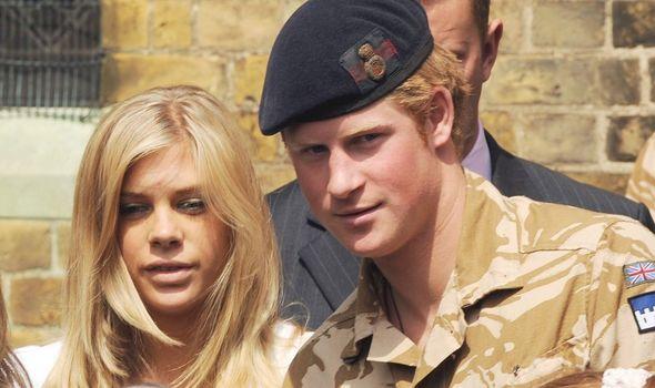 Prince Harry alongside Chelsy Davy
