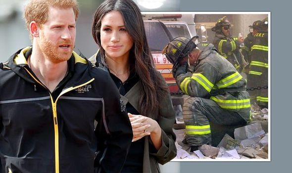 Prince Harry and Meghan Markle have placed a tribute to 9/11 victims on their website