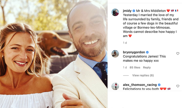 Prince Louis news: James Middleton said he is married to the 'love of his life'