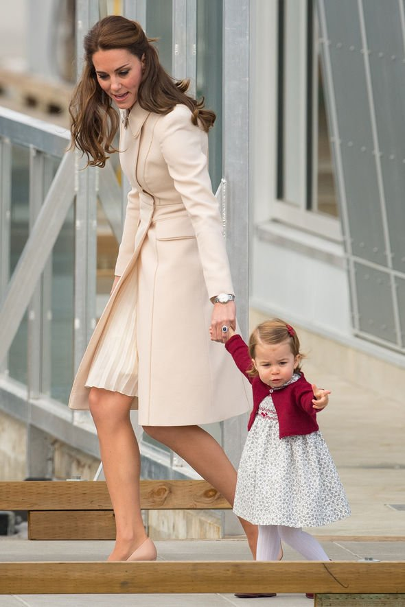 The Duchess of Cambridge and Princess Charlotte prepare to depart by sea plane from Victoria Harbour Airport in Victoria, Canada, on the eighth day of