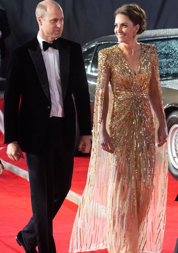 Prince William and Kate at James Bond premiere