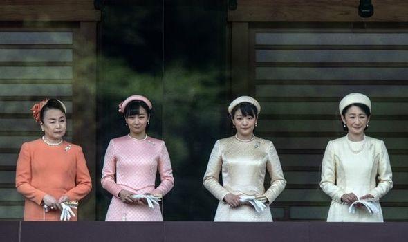 Picture of Princess Tomohito of Mikasa, Princess Kako, Princess Mako and Princess Kiko