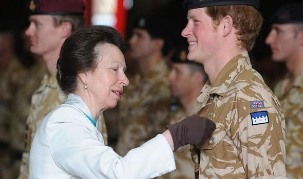 Princess Anne and Harry