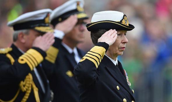 Princess Anne in uniform