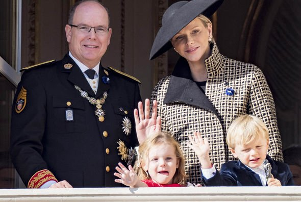 Princess Charlene and Albert of Monaco with their twins