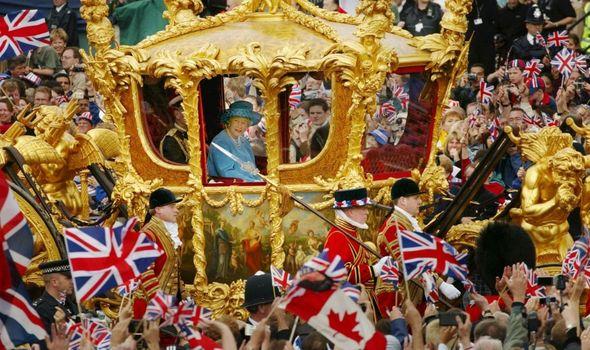 Queen: At Golden Jubillee parade
