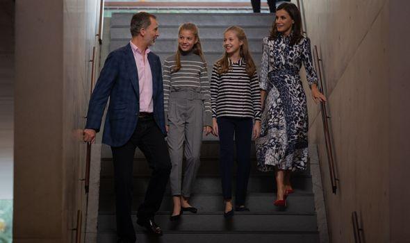 Queen Letizia, King Felipe VI and their children