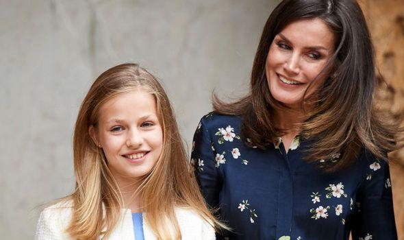 Queen Letizia and Leonor